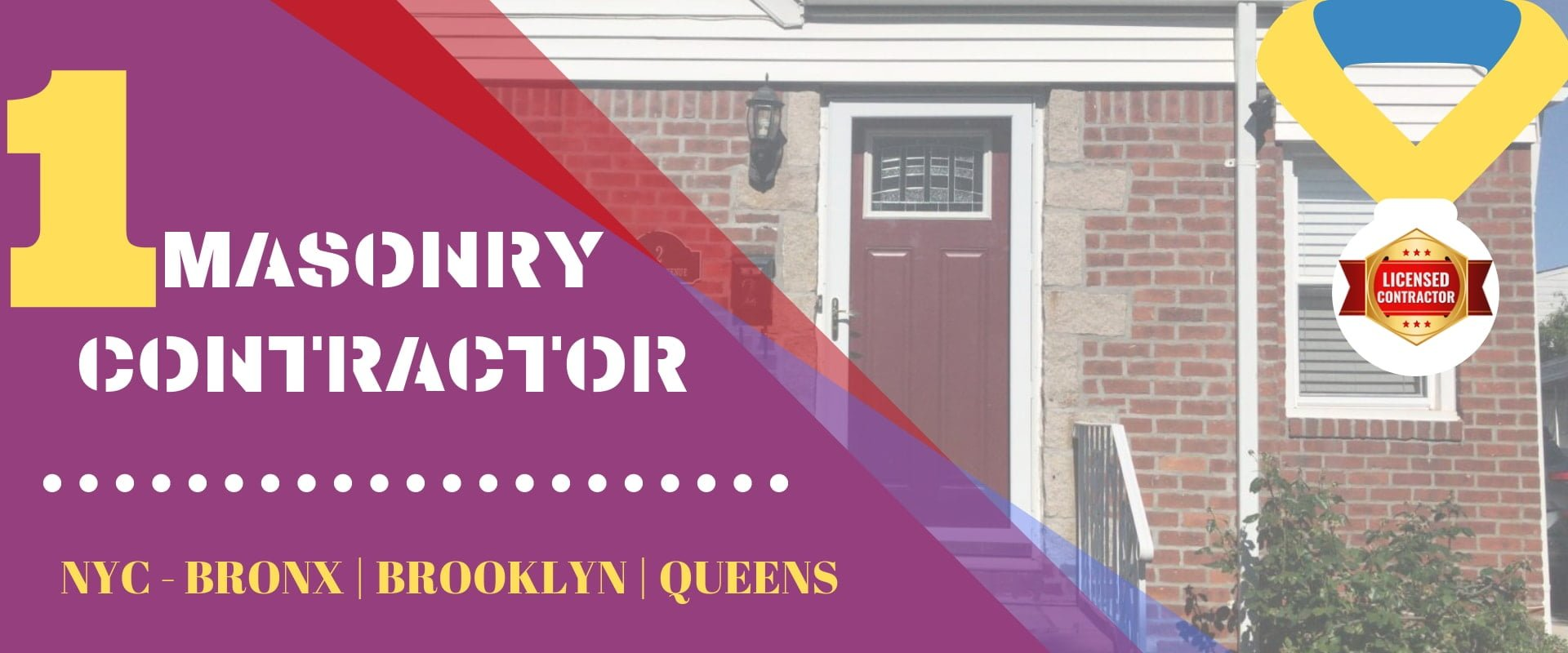 Masonry Contractors NYC - Brick Pointing, Stucco Repair
